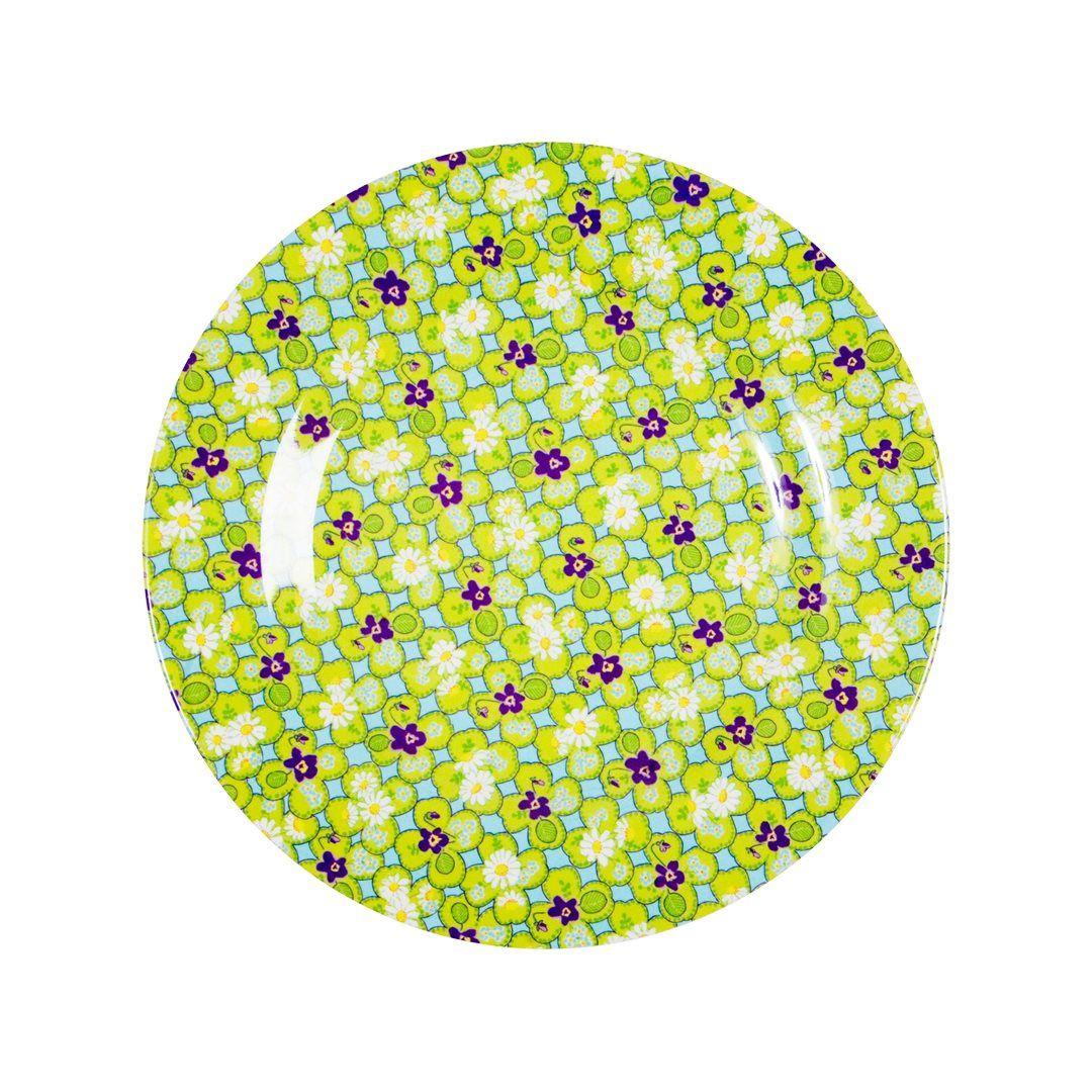 Melaminový talíř - zeleno fialový