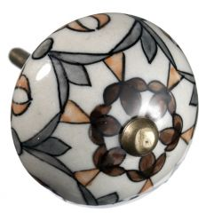 Porcelánová úchytka Maroccan grey