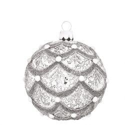 Vánoční ozdoba - baňka Pearls