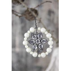 Vánoční ozdoba Pearl flower