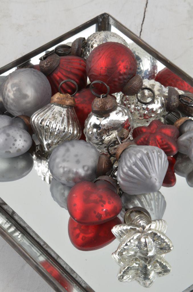 Vánoční mini ozdoby red