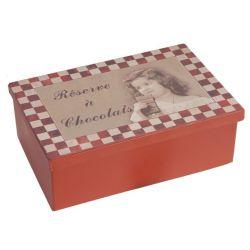 Kovová krabička Retro Chocolats 21x13,5