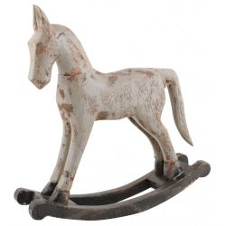 IB LAURSEN / Dřevěný houpací koník grey 30cm