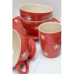 IB LAURSEN / Miska na müsli Red/cream stars
