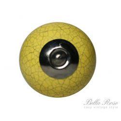 Porcelánová úchytka - žlutý mramor