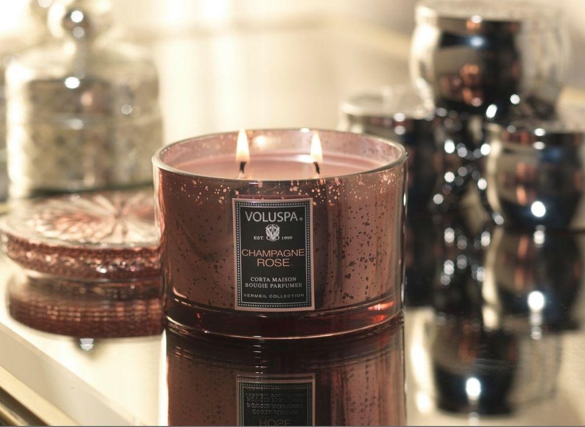 Luxusní svíčka ve skle Champagne Rose