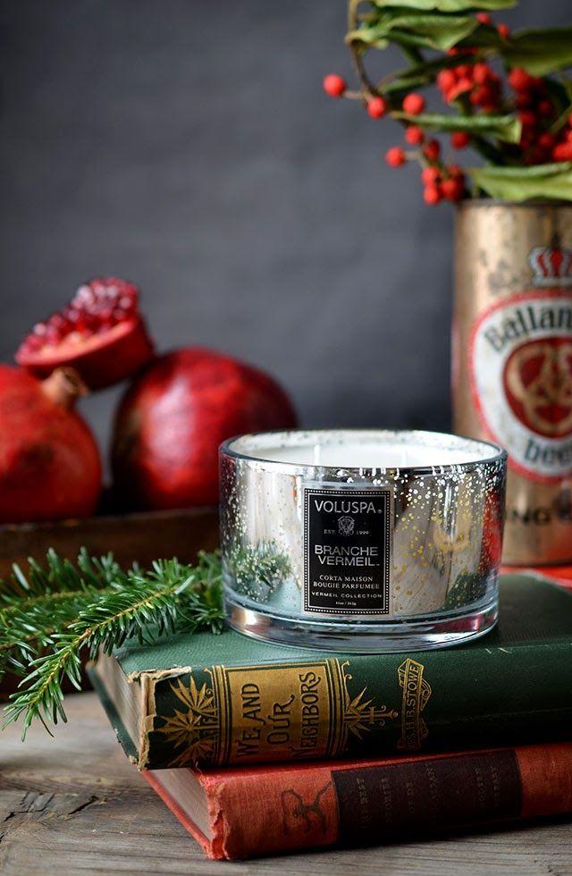 Luxusní svíčka ve skle Branche Vermeil