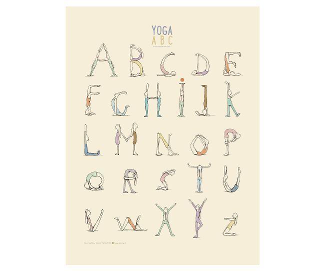 Plakát Jógová abeceda