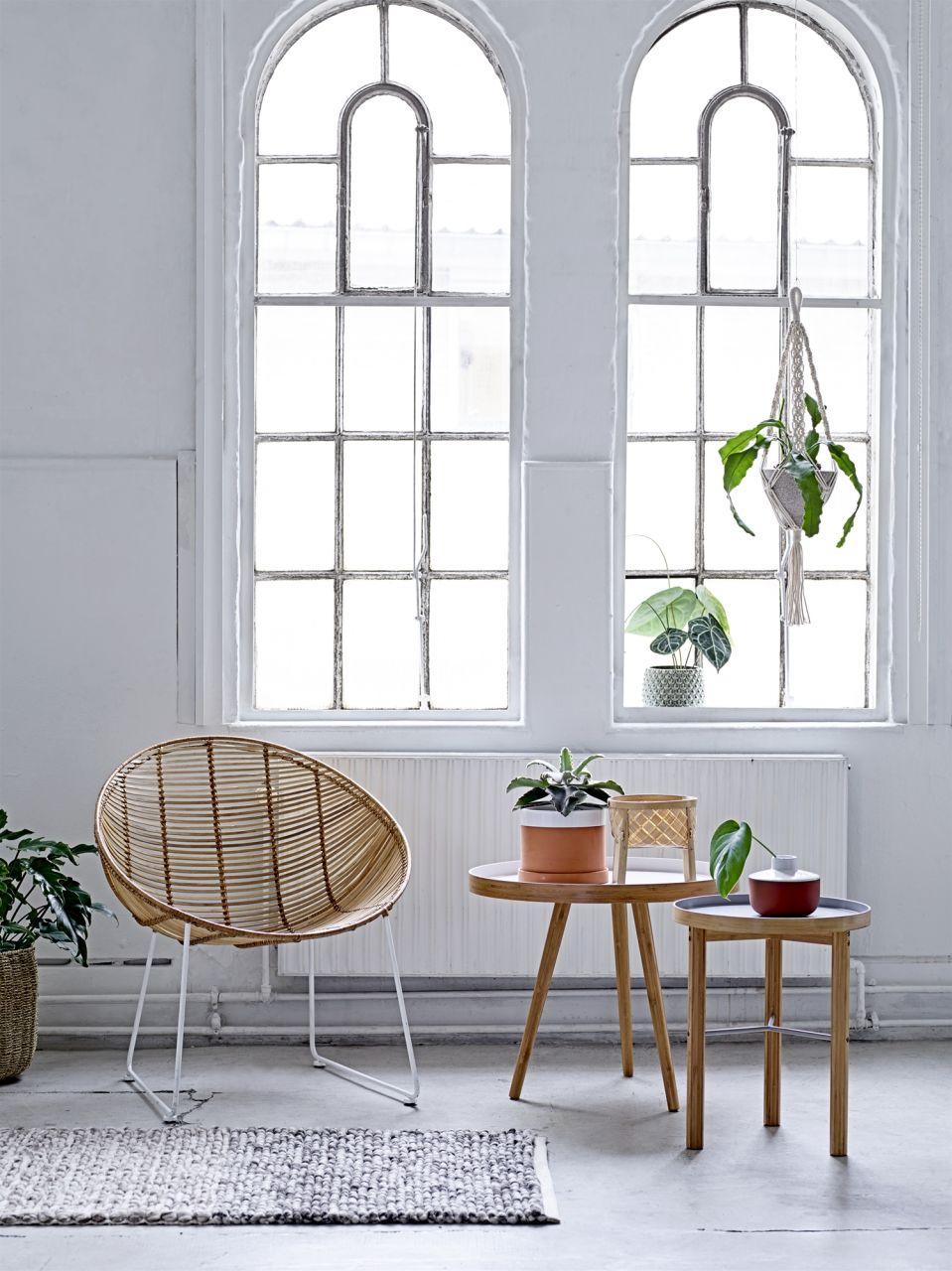 Bambusový odkládací stolek Grey