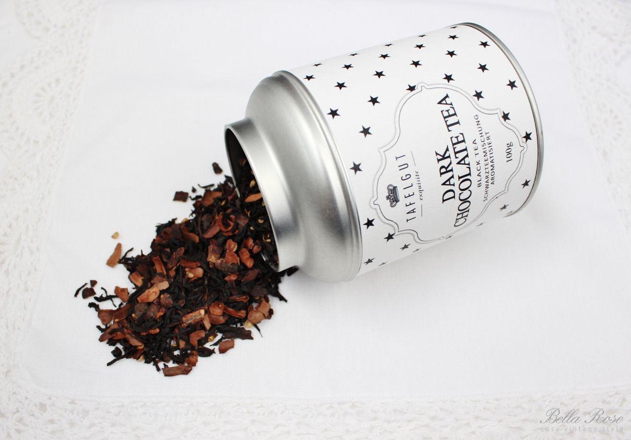 Černý čaj s čokoládou