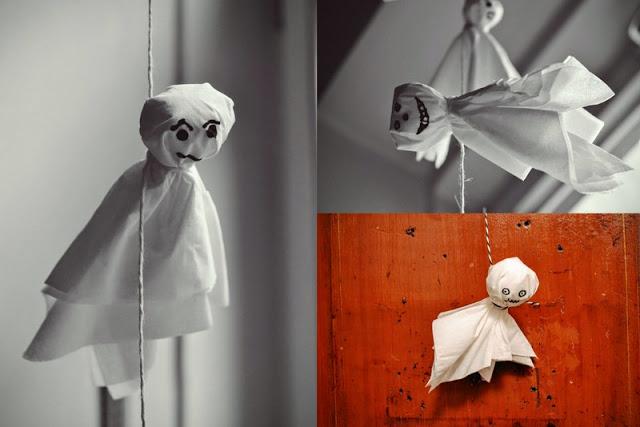 DIY duchové z papírových ubrousků
