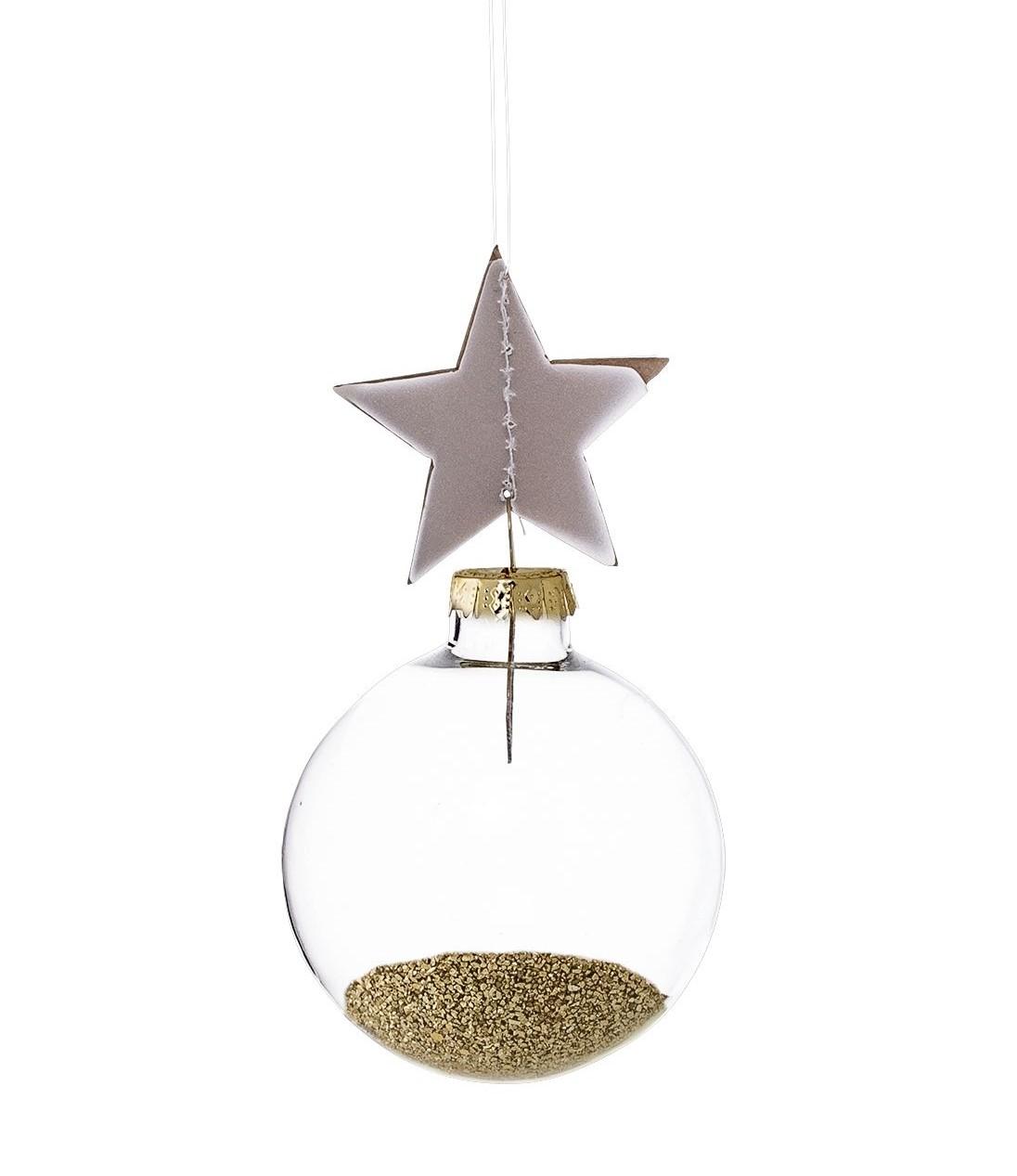 Vánoční baňka Gold Glitter&Star
