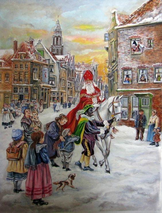 Nizozemský Sinterklaas a Černý Petr