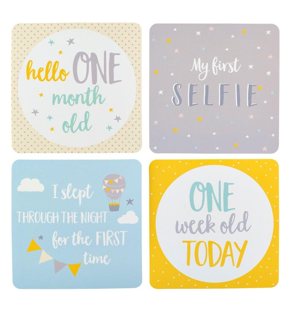 Kartičky s milníky miminka