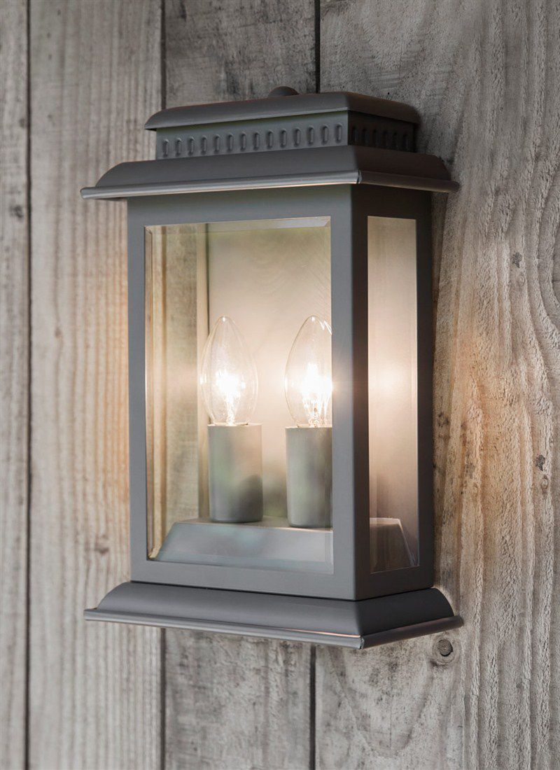 Nástěnná venkovní lampa Belvedere Charcoal