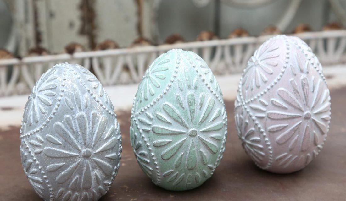 Pastelové dekoratívne vajíčka od Chic Antique