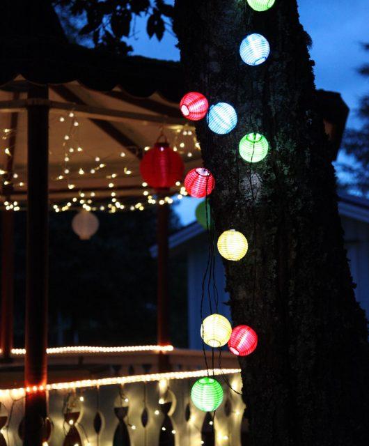 Světelný lampionový LED řetěz