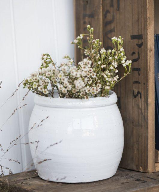 Keramický květináč Bocal White