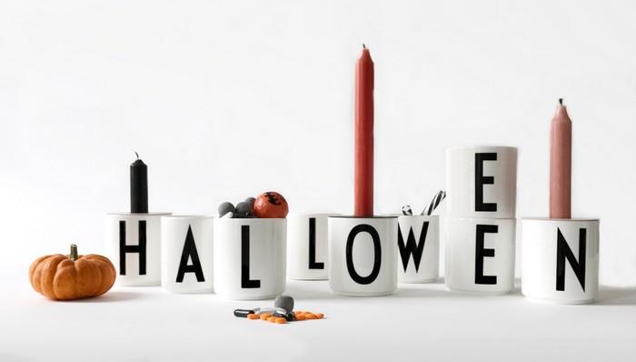 Hrnečky Design Letters v halloweenském stylingu