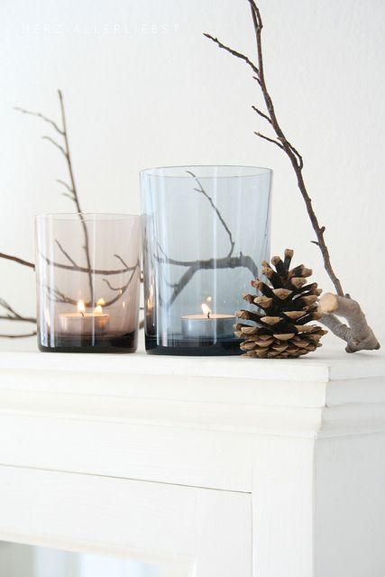 Svíčky v barevném skle
