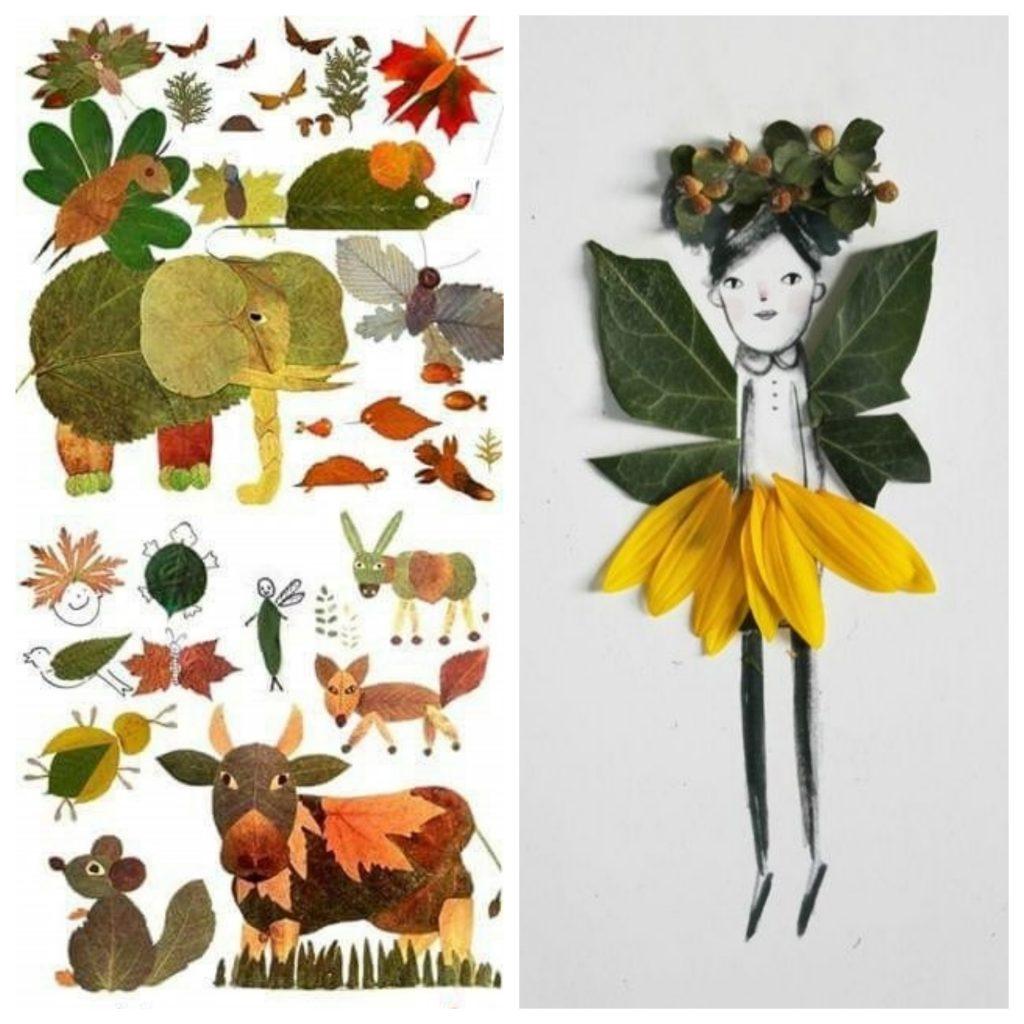 Podzimní výtvory z listí