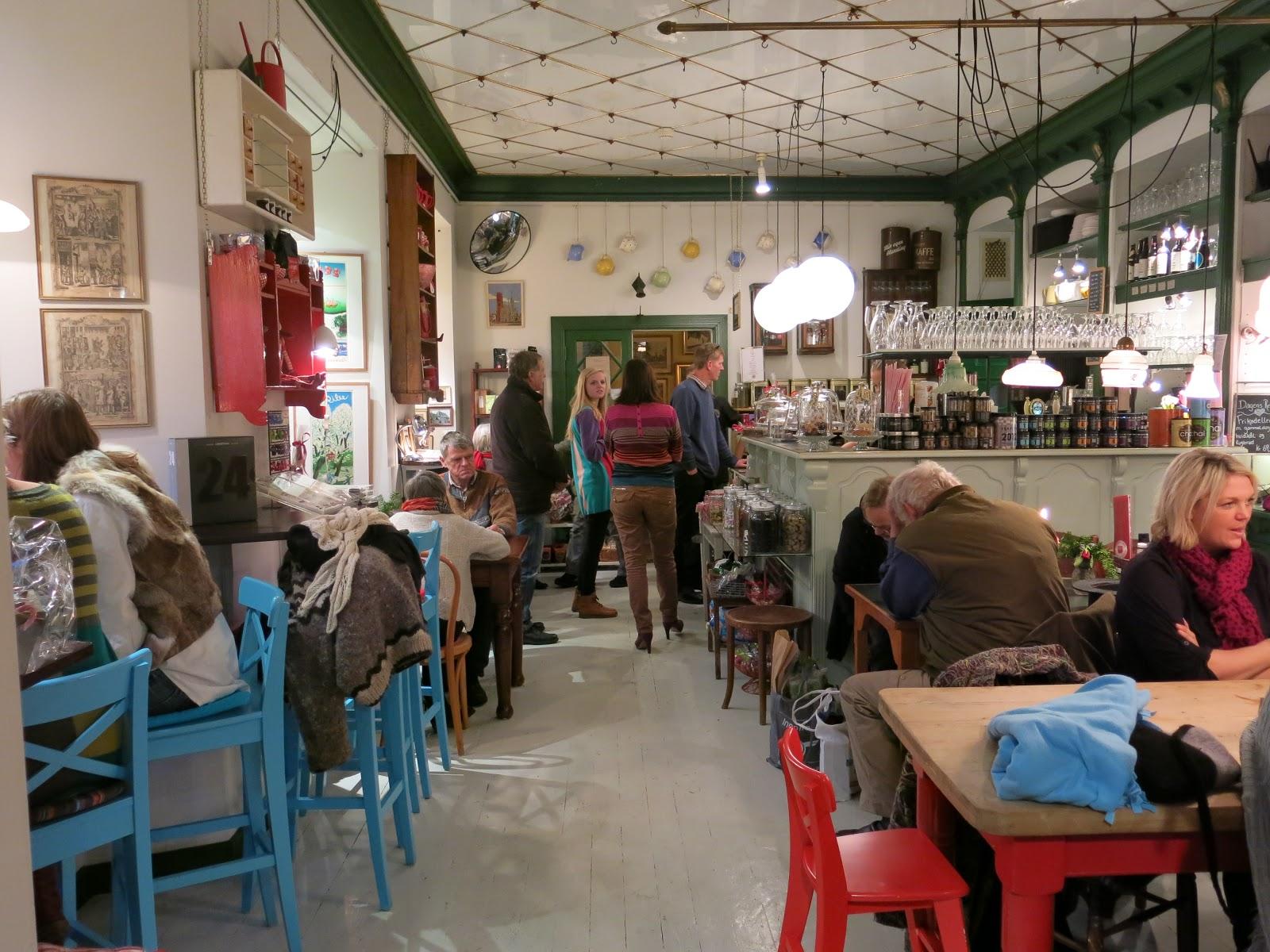 Útulná kavárna Quedens GaardCafe