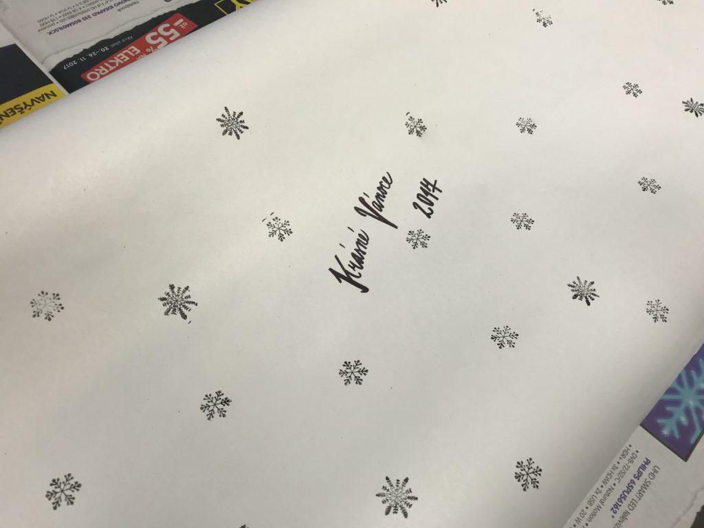 DIY vánoční papír