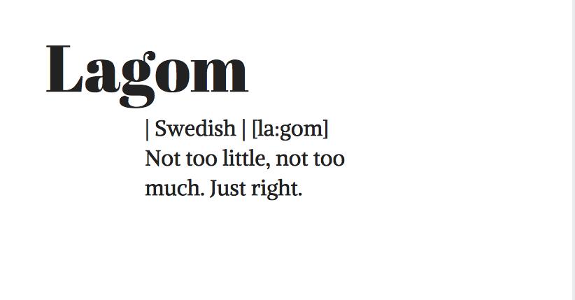 Švédsky pojem Lagom