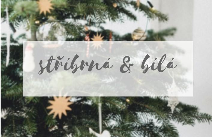 Vánoční ozdoby v bílé a stříbrné barvě