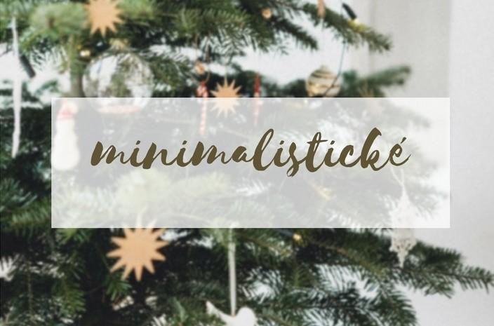 Minimalistické vánoční ozdoby