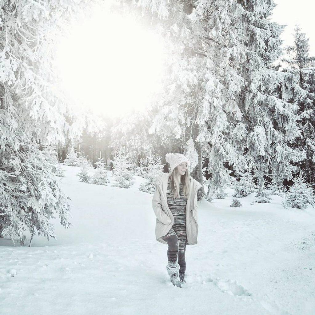 Krásná zimní rána v horách