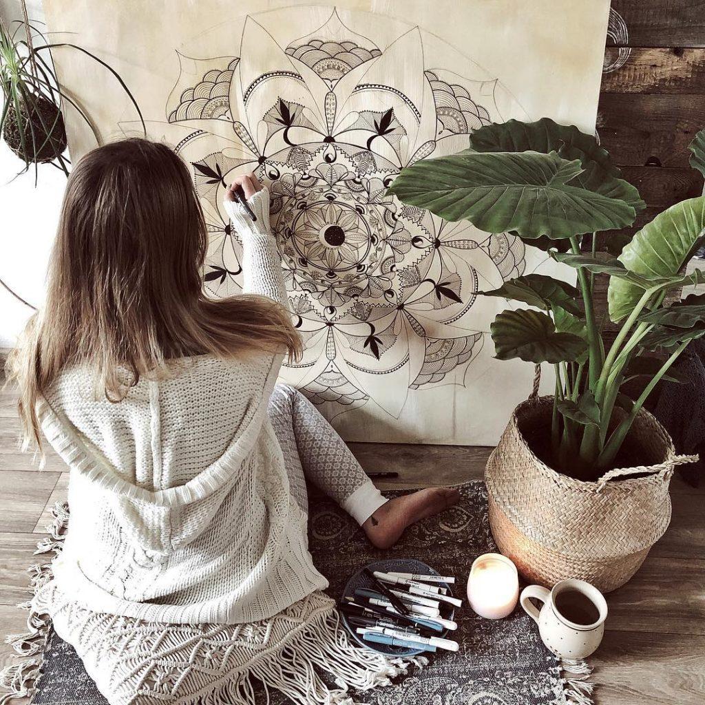 Anie a její oblíbená mandala