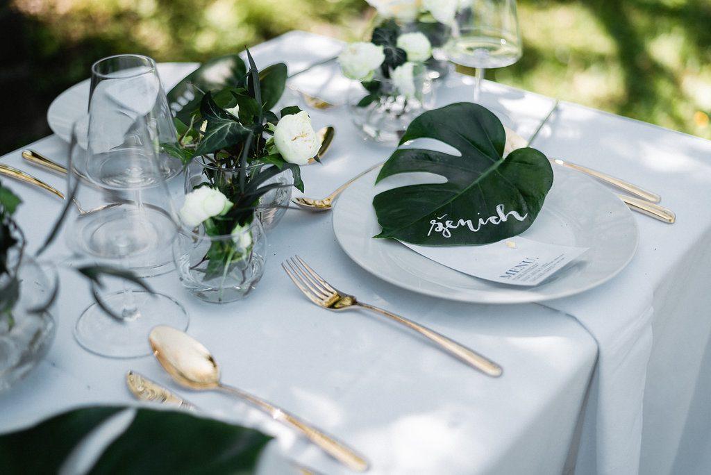 Svadobný stôl v elegantnom štýle