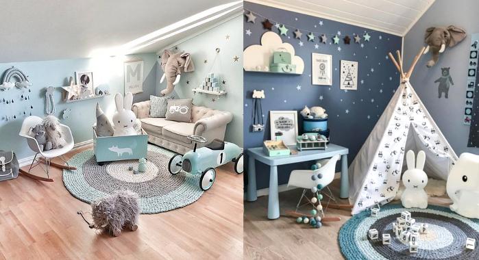 Útulný dětský pokoj ve skandinávském stylu