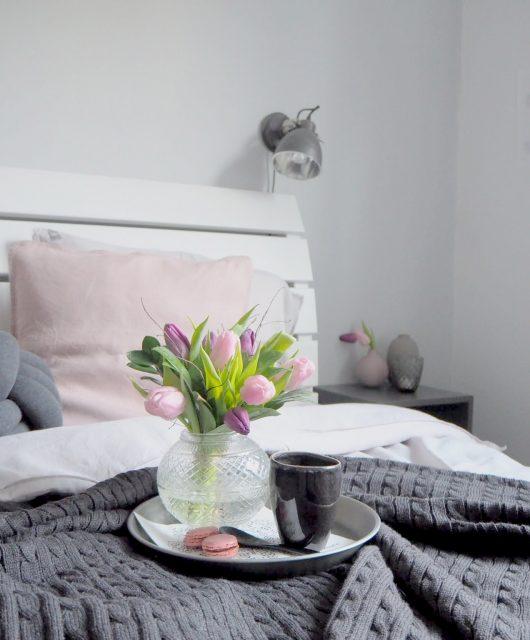 Jarní dekorace v ložnici