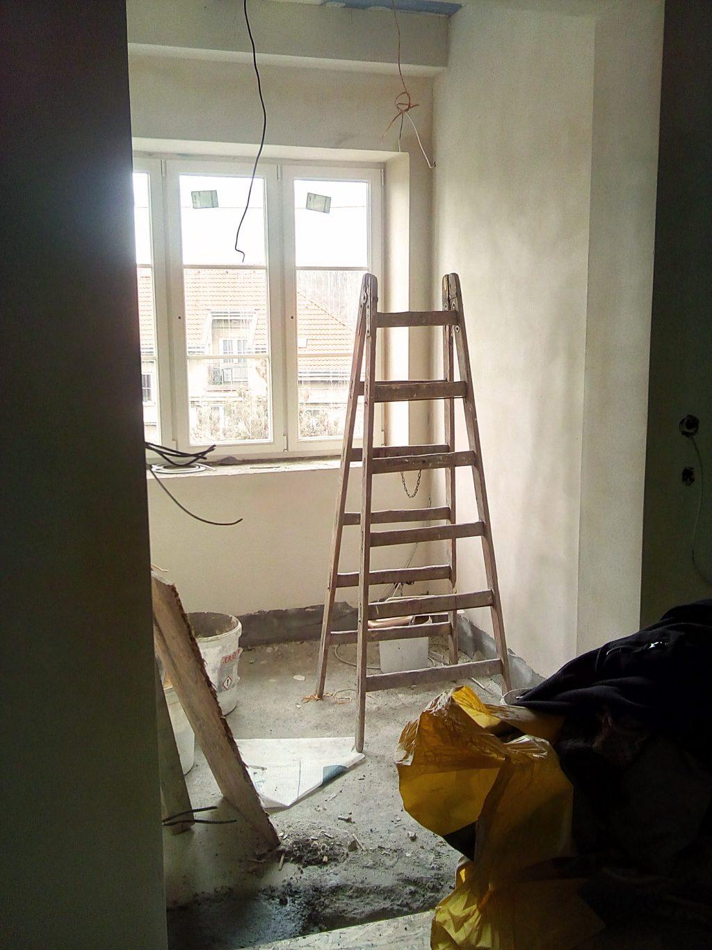 Malá ochutnávka z Evina nového bytu, na kterém s partnerem usilovně pracuje