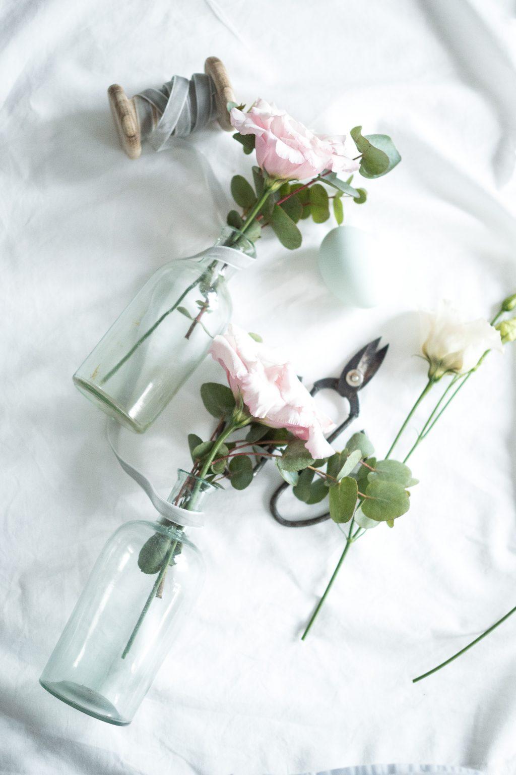Květiny v lahvičce