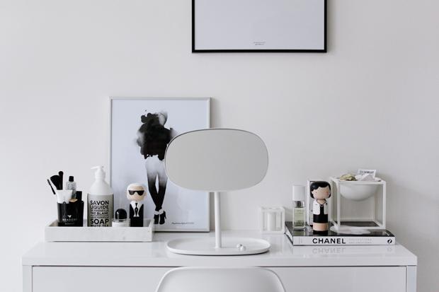 Černobílý interiér, moderní skandinávský styl