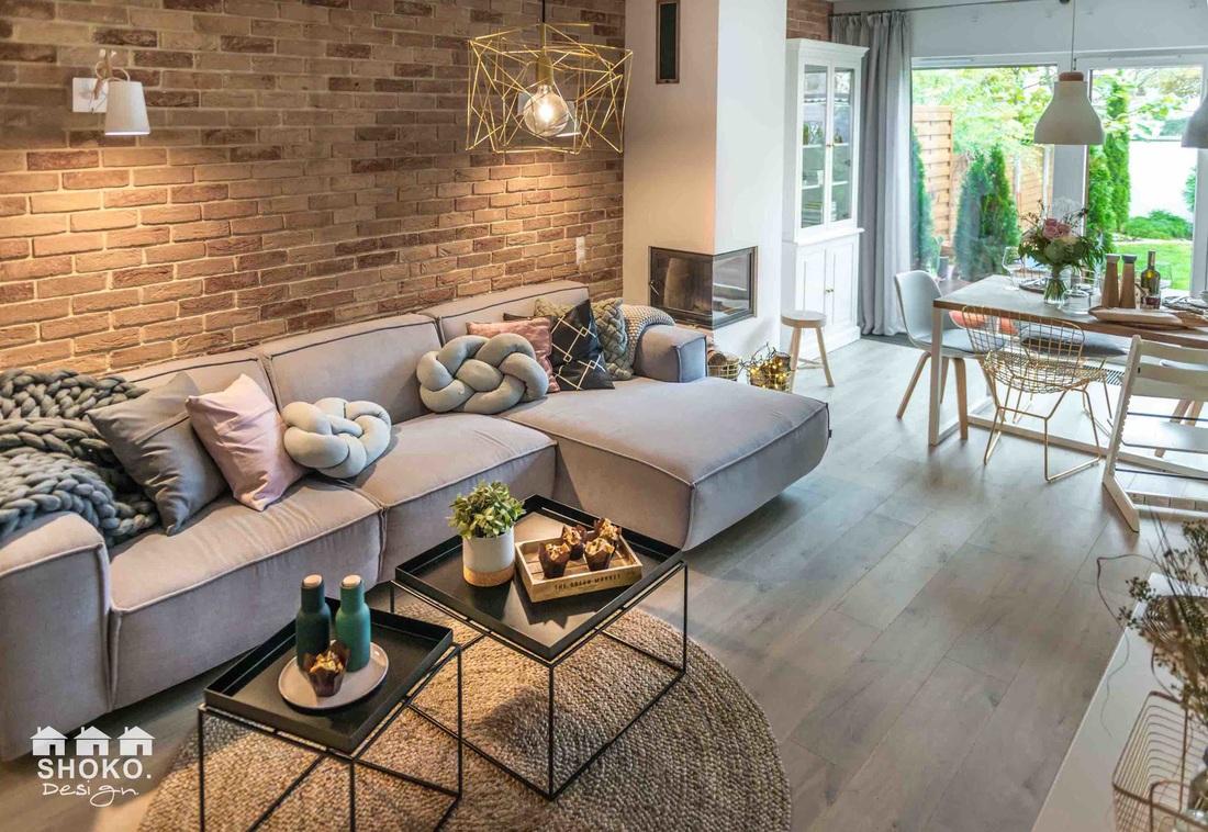 Obývák ve skandinávském stylu