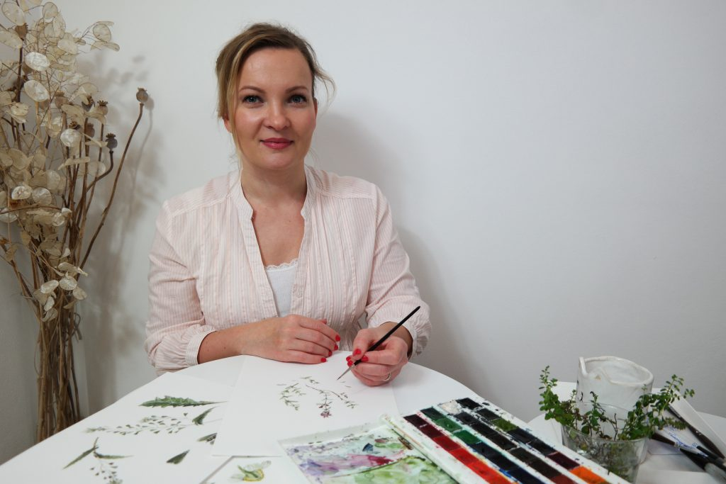 Jak žije a bydlí akvarelová malířka Jitka Zajíčková