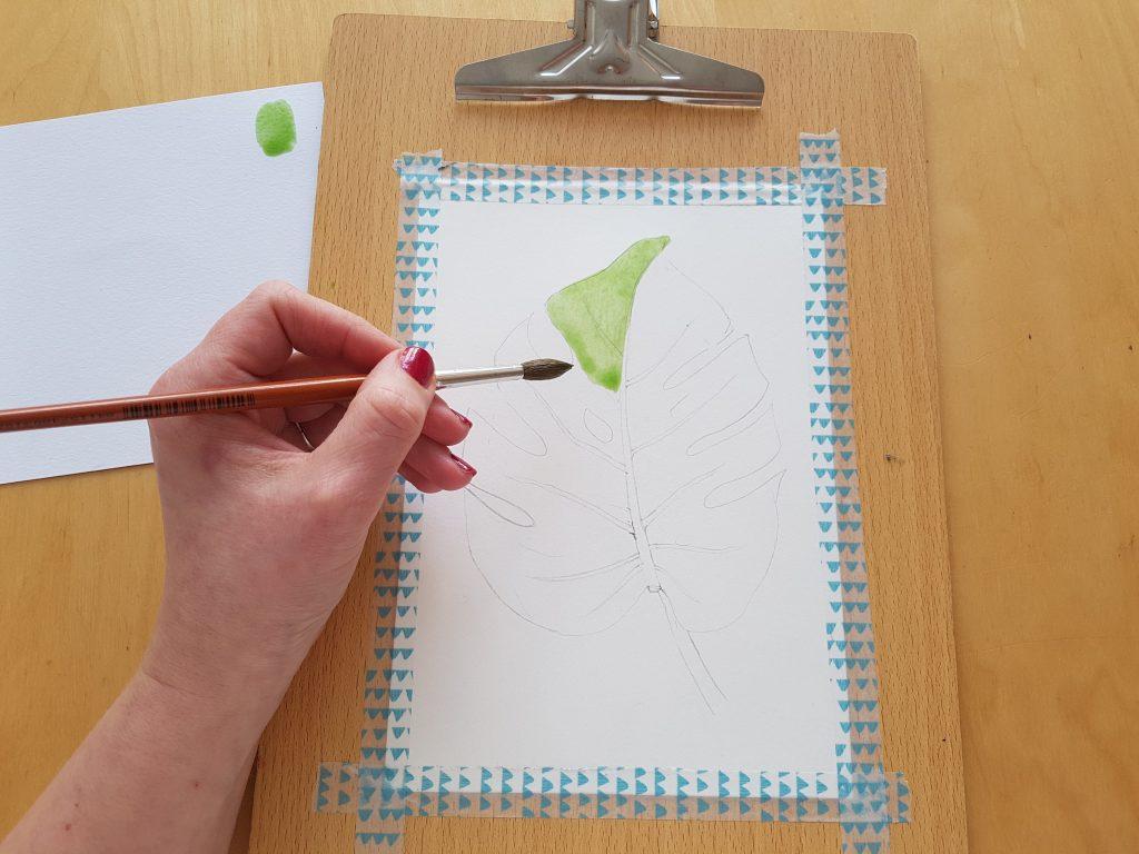 Akvarelový tutoriál - první tahy štětcem