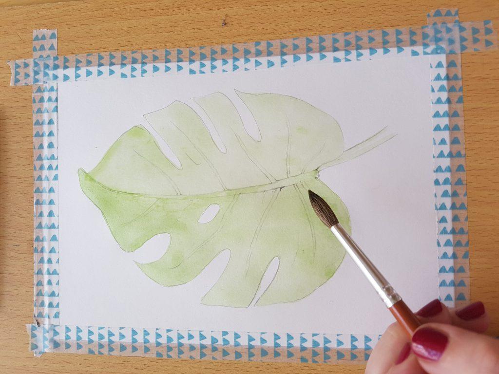 Akvarelový tutoriál krok za krokem
