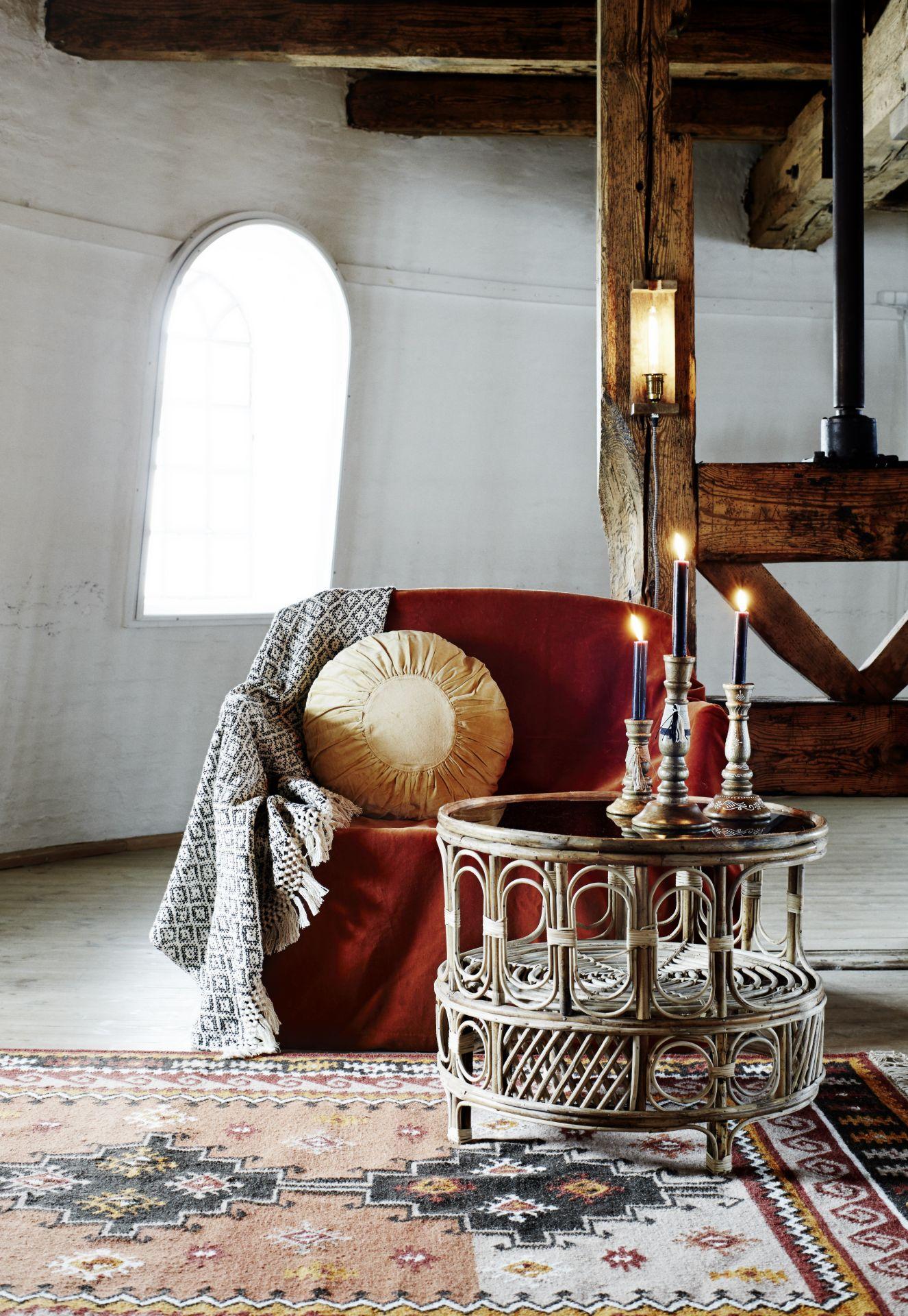 Obývačka v boho štýle