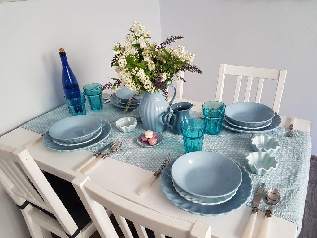 Modré nádobí Mynte