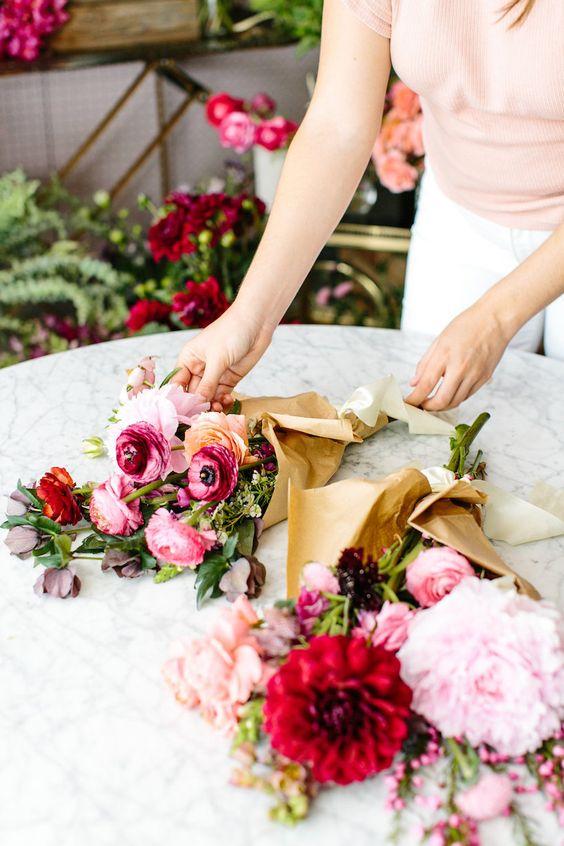 Květiny v květinářství