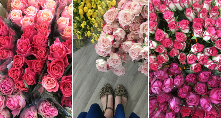 Květiny ve velkoobchodě
