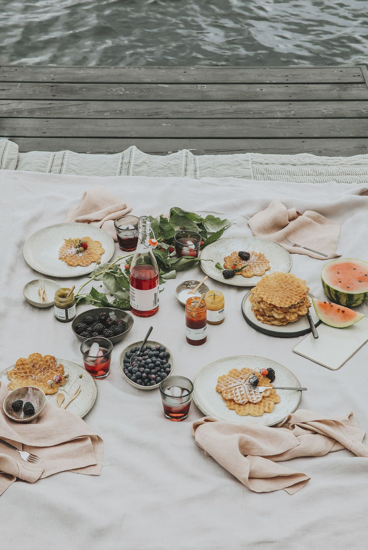 piknik s množstvom dobrôt a domácou limonádou