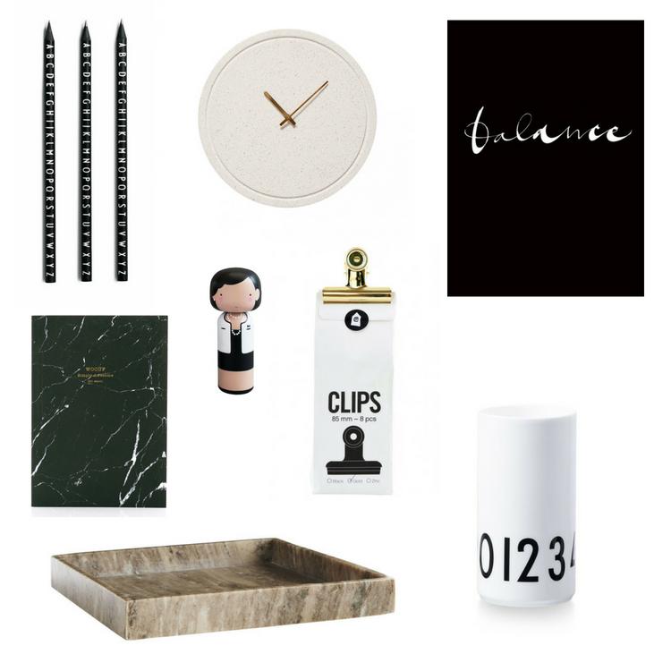 Doplňky a dekorace do minimalistické pracovny