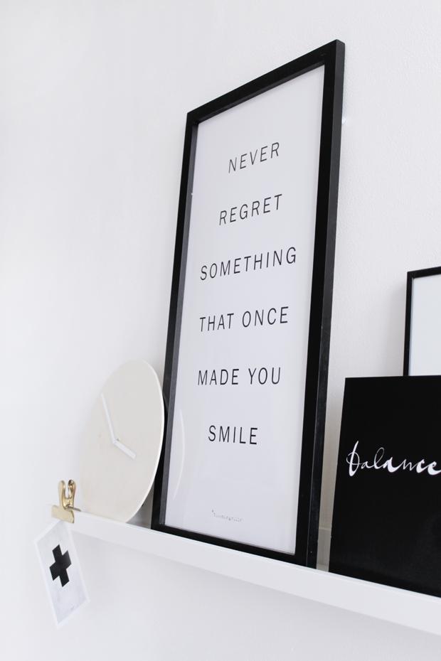 dekorace v minimalistické pracovně