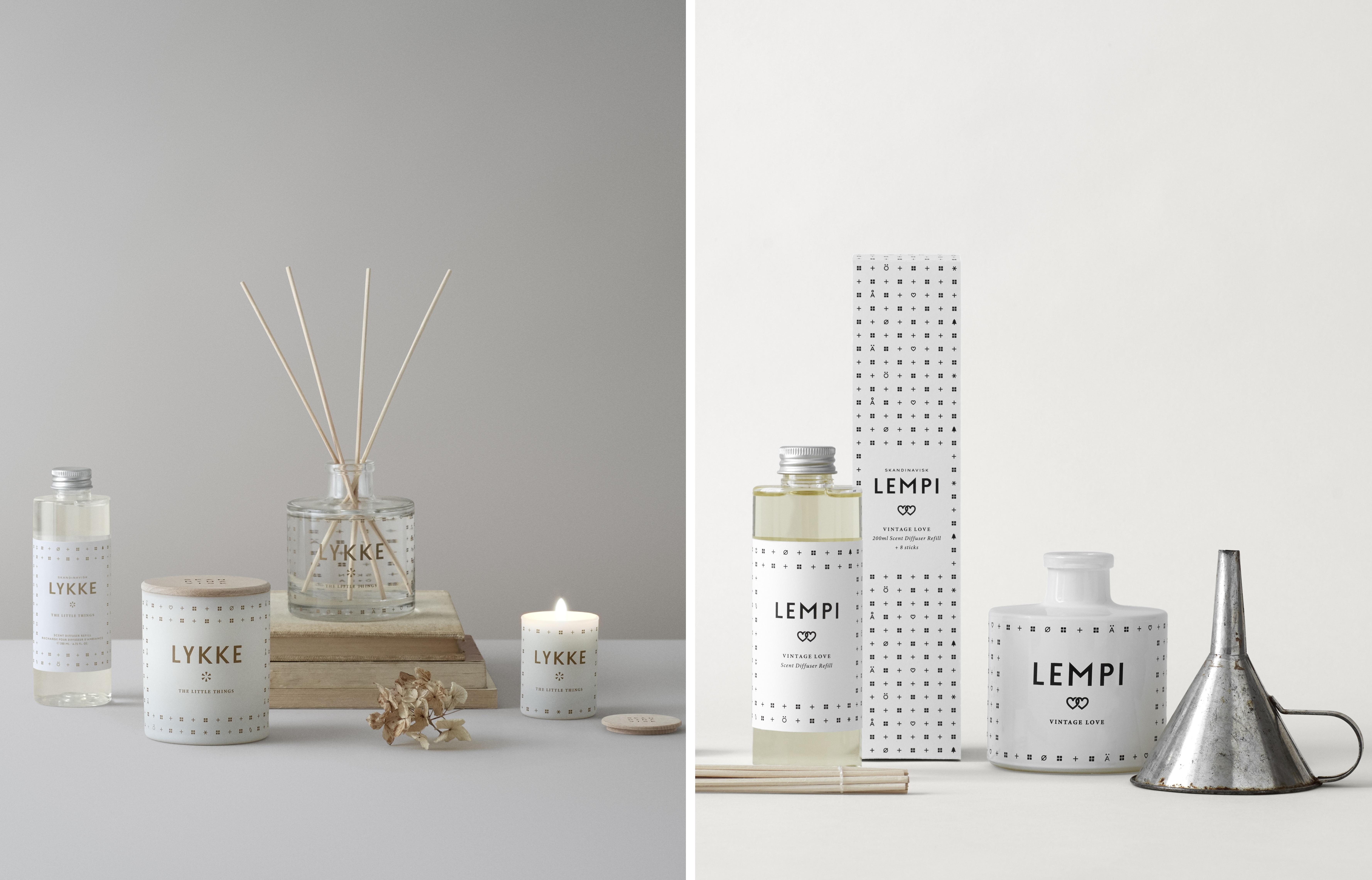 Svíčky a difuzéry Skandinavisk se dají považovat za svatební dary i přání novomanželům v jednom